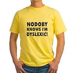 Nodoby's Yellow T-Shirt