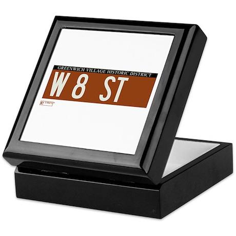 8th Street in NY Keepsake Box