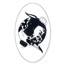 H/B Great Dane YY Oval Decal