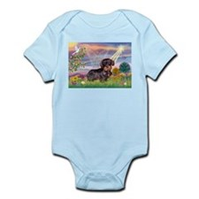 Cloud Angel & Wire Haired Dachshund Infant Bodysui