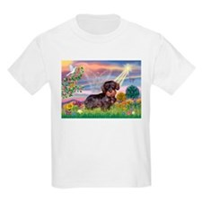 Cloud Angel & Wire Haired Dachshund T-Shirt