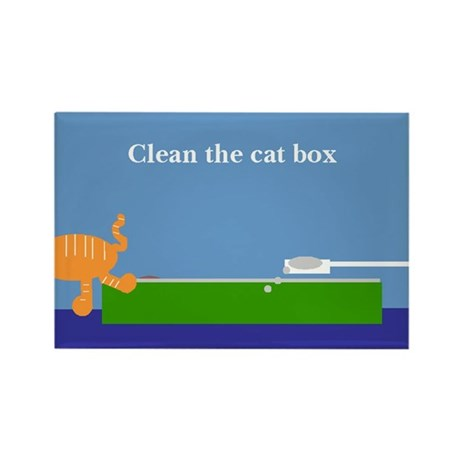 Cat box Rectangle Magnet