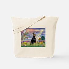 Cloud Angel & Dobie Tote Bag