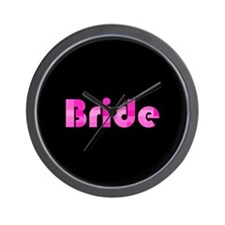 Bride - Pink Bubble Retro Wall Clock