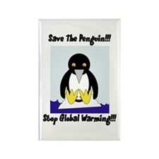 Save The Penguin Rectangle Magnet