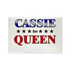 CASSIE for queen Rectangle Magnet