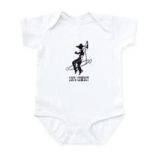 100% cowboy Boy Roper Infant Bodysuit