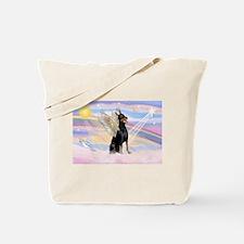 Dobie Angel in Clouds Tote Bag