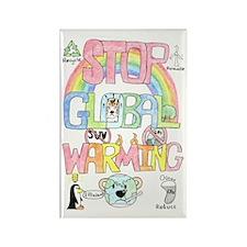 Stop Global Warming Rectangle Magnet
