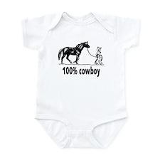 100% cowboy Boy Leading Horse Infant Bodysuit