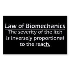 Law of Biomechanics Rectangle Decal