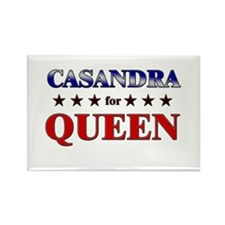 CASANDRA for queen Rectangle Magnet