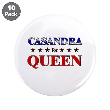 """CASANDRA for queen 3.5"""" Button (10 pack)"""