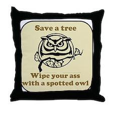 Save a Tree - Throw Pillow