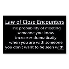 Law of Close Encounters Decal