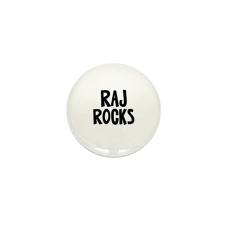Raj Rocks Mini Button