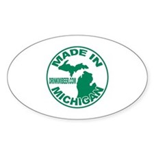 Drink Michigan Beer! Oval Decal