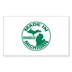 Drink Michigan Beer! Rectangle Decal