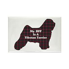 BFF Tibetan Terrier Rectangle Magnet (10 pack)