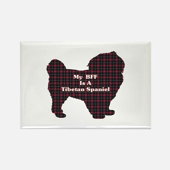BFF Tibetan Spaniel Rectangle Magnet (10 pack)