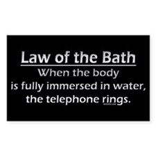 Law of the Bath Decal
