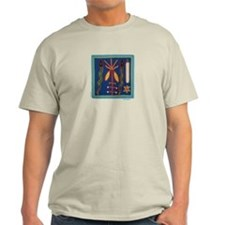 Huichol Art: 'Twin Serpents' Men's T-Shirt