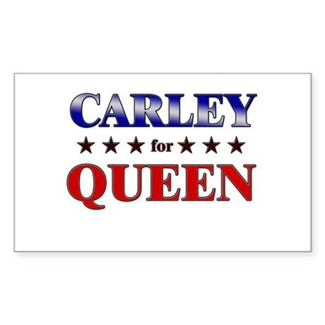 CARLEY for queen Rectangle Sticker