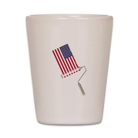 Paint Roller Stars and Stripes Shot Glass