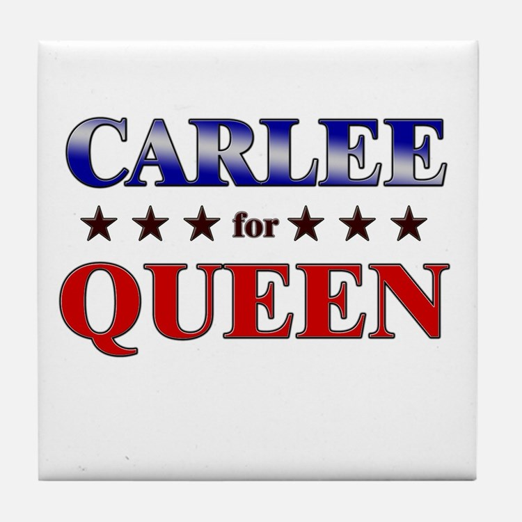CARLEE for queen Tile Coaster