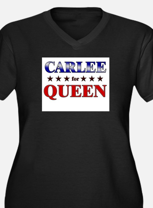 CARLEE for queen Women's Plus Size V-Neck Dark T-S
