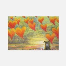 Thinking of You (with love) Rectangle Magnet