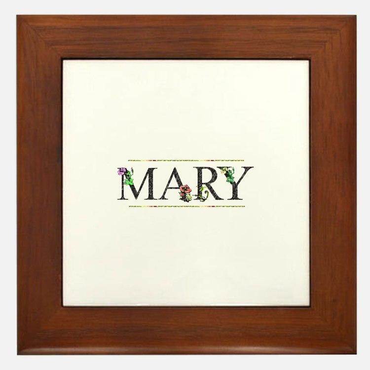 Mary Framed Tile