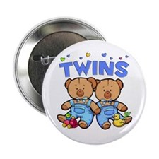 Twins - Boy Bears Button