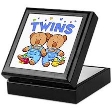 Twins - Boy Bears Keepsake Box