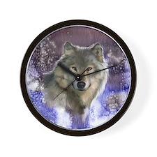 Wolf Still Life Wall Clock