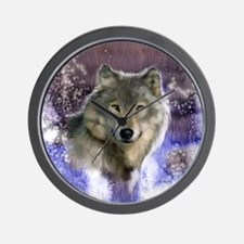 Wolf Still Life Wall Clock