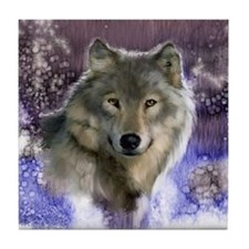 Wolf Still Life Tile Coaster