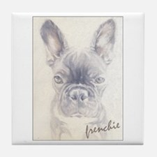 French Bulldog Painting Tile Coaster