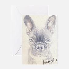 French Bulldog Painting Greeting Card