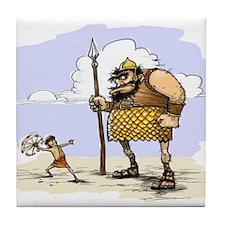 David & Goliath Tile Coaster