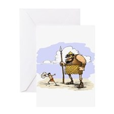 David & Goliath Greeting Card