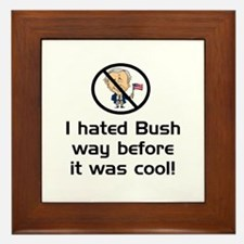 Hated Bush Framed Tile