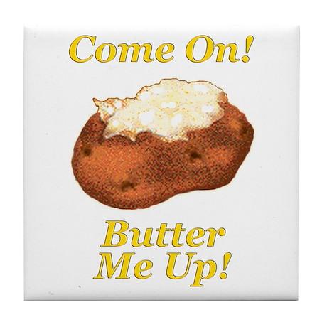 Butter Me Up! Tile Coaster