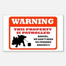 Chihuahua Security Rectangle Decal