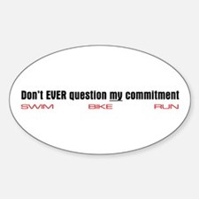 """""""Commitment"""" Oval Decal"""
