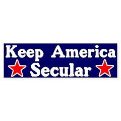 Secular America Bumper Bumper Sticker