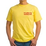 Sucking Cock Yellow T-Shirt