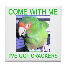 I've Got Crackers Tile Coaster