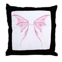 I earned my wings Throw Pillow