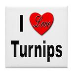 I Love Turnips Tile Coaster